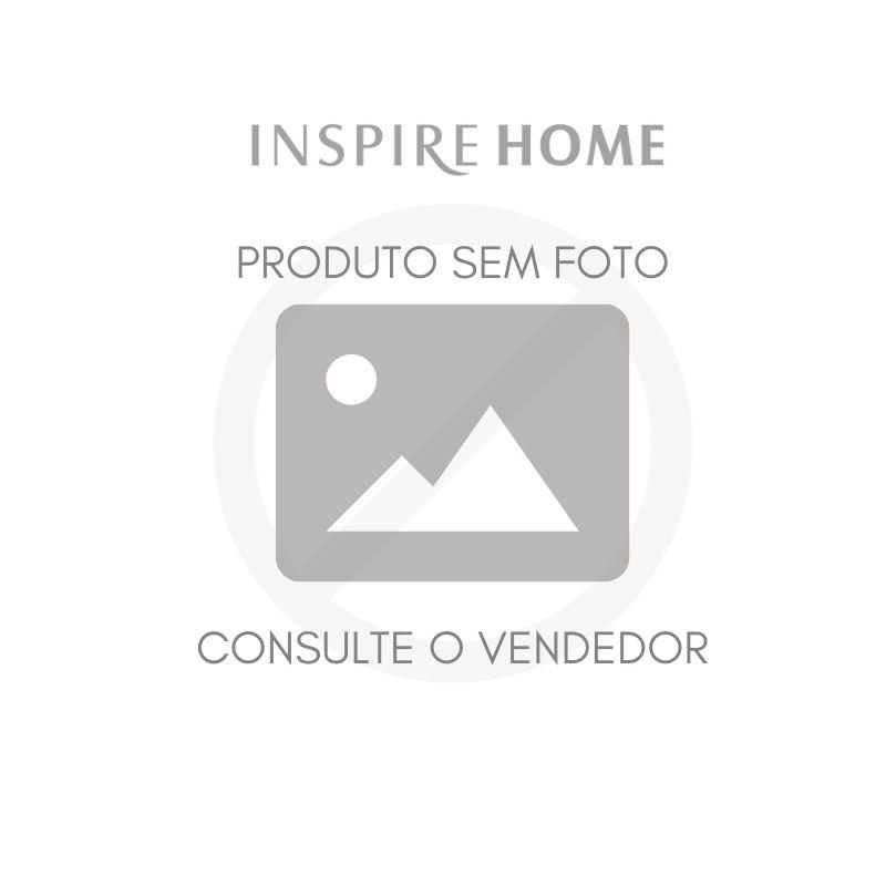Plafon de Sobrepor p/ Trilho Victoria Redondo c/ Adaptador Preto Ø29cm Metal e Acrílico | Newline 160AP